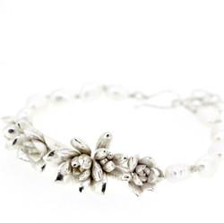 Multi-Succulent & Pearl bracelet