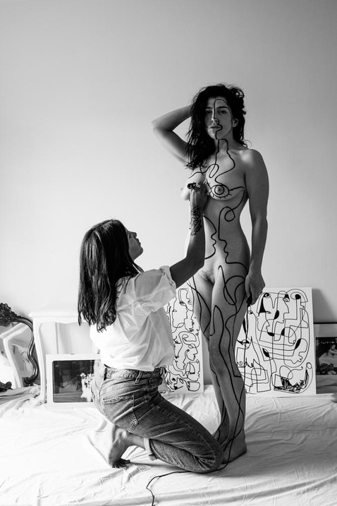 Body art with Camouna