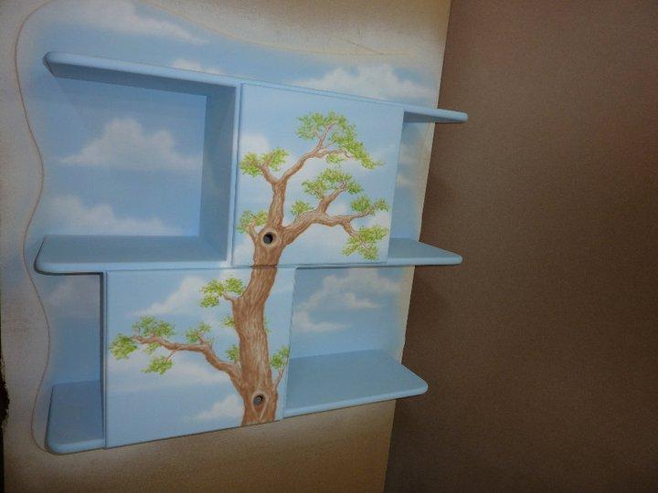 ארון ומדפים באייר בראש לחדר ילדים