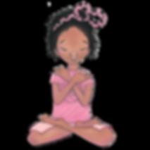 grandmother tree child meditating in blossom