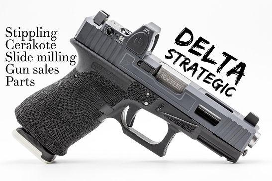 Glock Stippling, Cerakote, Slide Milling, RMR