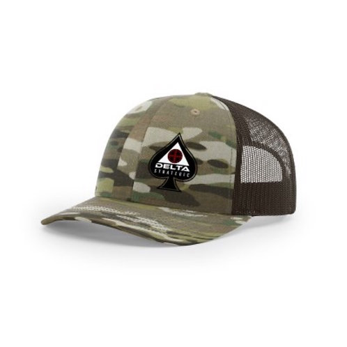 Richardson Trucker Hat - MULTICAM SPADE LOGO