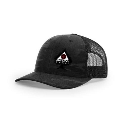 Richardson Trucker Hat - BLACK MULTICAM SPADE LOGO