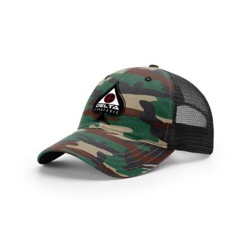 Richardson Trucker Hat - CAMO - SPADE LOGO