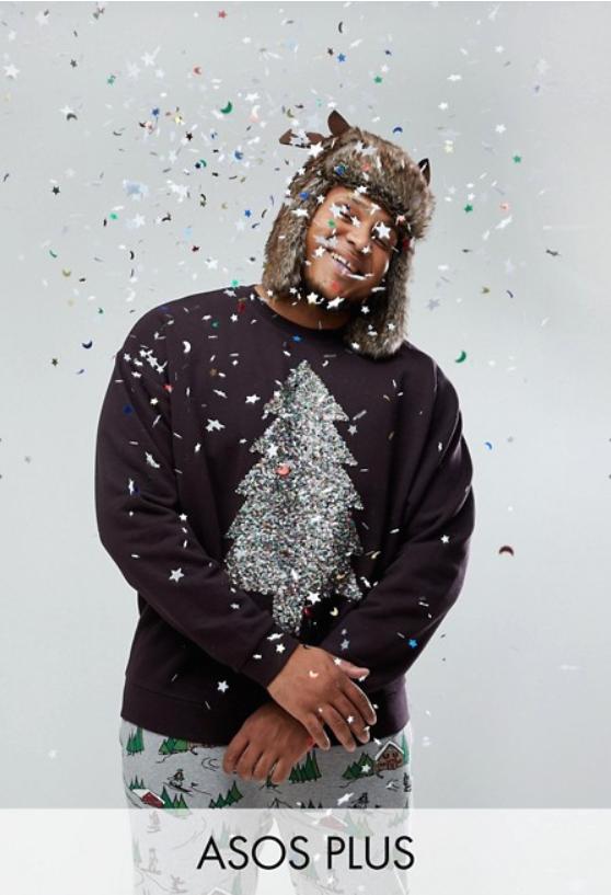 De foute kersttrui voor de bolle buik
