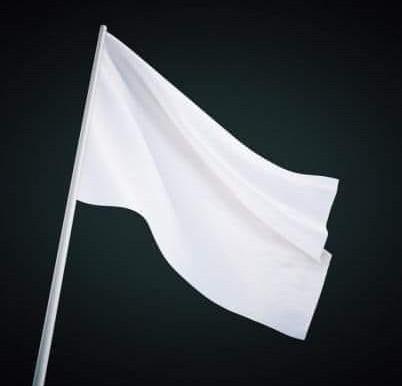 Tidak bermakna yang angkat bendera putih itu tidak mengangkat tangan berdoa