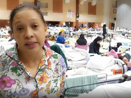 Masih dirawat di MAEPS, Maria Tunku Sabri mohon maaf, minta halalkan makan minum