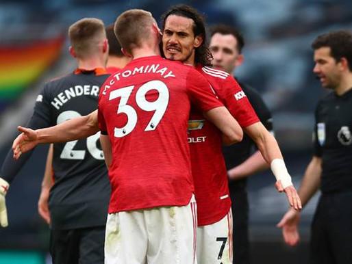 Keputusan VAR batalkan gol Cavani memang tidak adil, kata McTominay