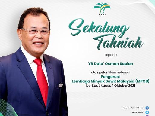 Osman Sapian dilantik sebagai Pengerusi MPOB