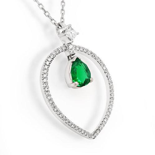 teardrop emerald pendant