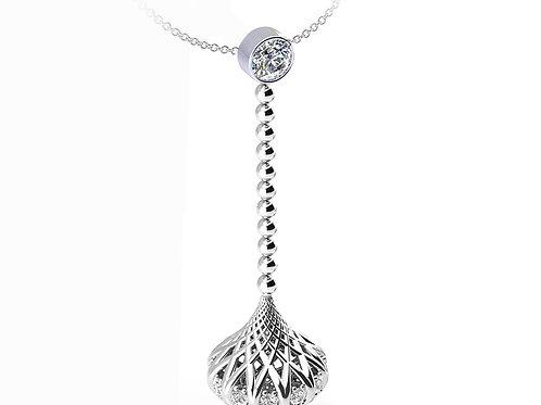 White Gold Diamond Drop Pendant