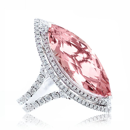 marquise morganite ring