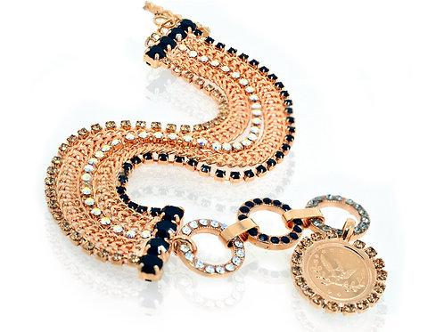 18ct Rose gold plated CZ and Swarovski crystal bracelet