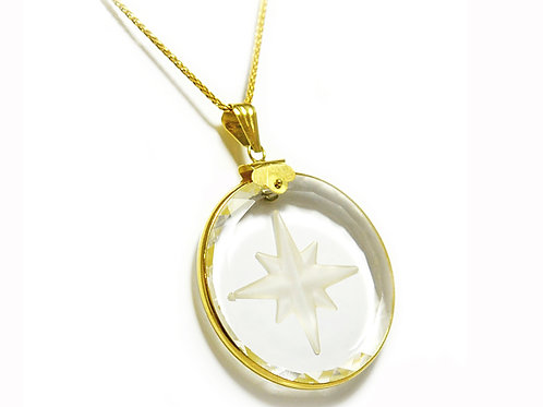 9ct Crystal with Star Pendant