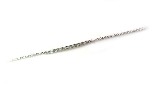 18ct White Gold Rosevill Bar Shape Bracelet