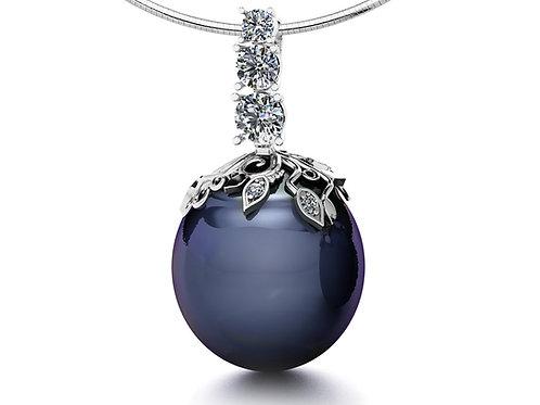 black pearl pendant