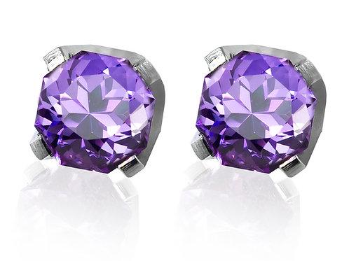 purple stone studs