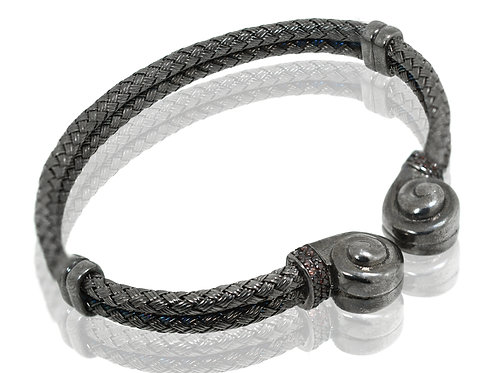 mens black rhodium bracelet