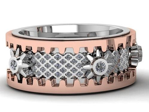 Wheel of Life Diamond Ring