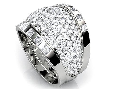diamond pave dress ring