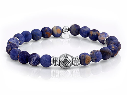 tatteossian dark blue beaded bracelet