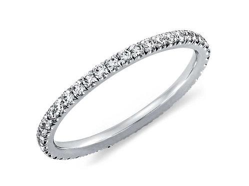 18ct White gold eternity diamond band