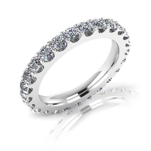 18ct White gold round brilliant diamond eternity wedding band