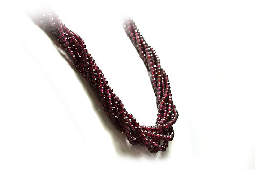 SOLD Rhodolite Neckace with 18ct Yellow Gold Clasp