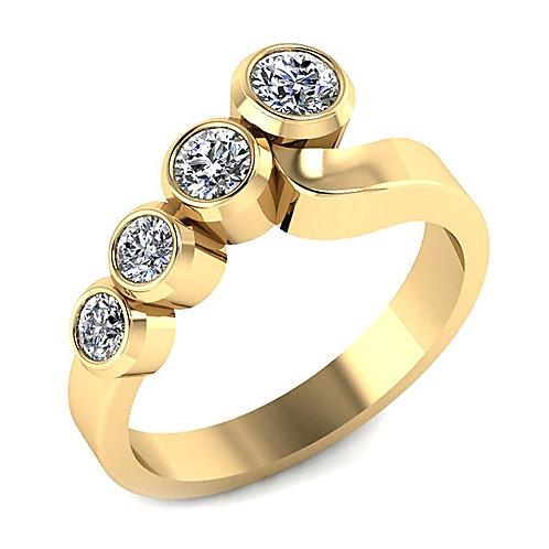 Bezel Set Round Brilliant Diamond Engagement Ring