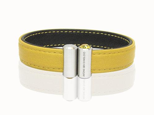 mustard leather bracelet mens