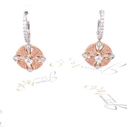 Argyle Pink Diamond Huggie Earrings