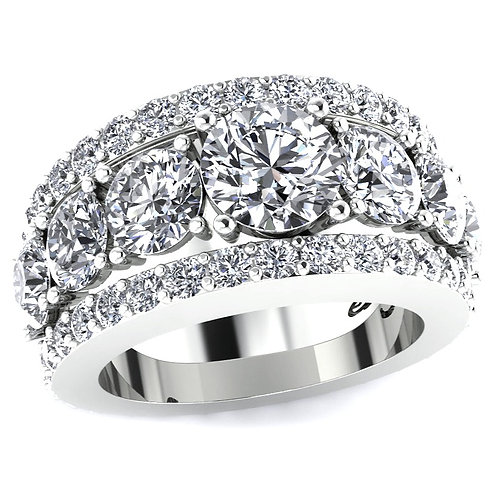 Diamond Engagement Ring with Diamond Eternity Bands