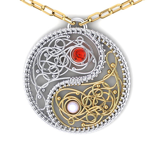 ying yang pendant