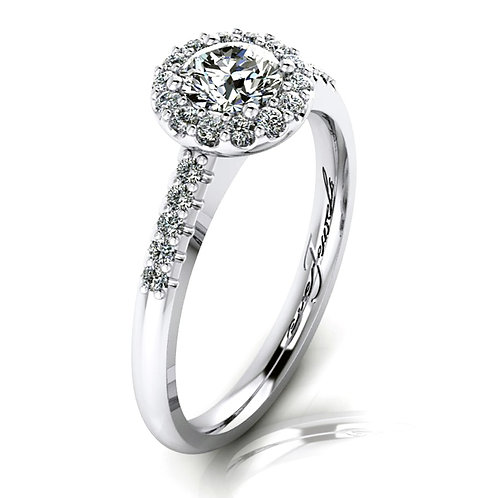 Round Brilliant Diamond Halo Engagement Ring