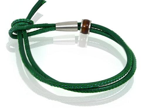 antonio ben chimol green leather bracelet