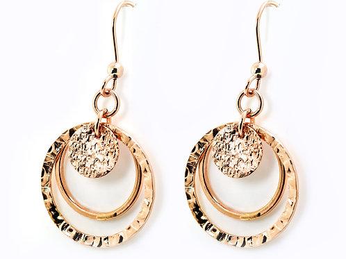Israel designer 14ct Rose gold earrings