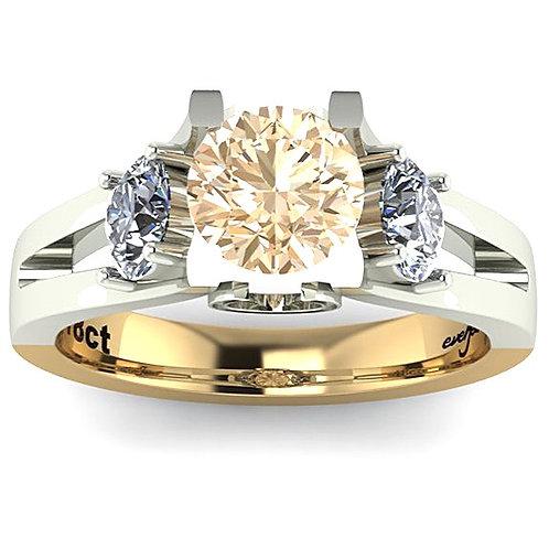 Round Brilliant Cogniac Diamond Engagement Ring