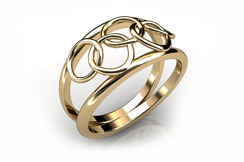 18ct Yellow Gold Woven Dress Ring