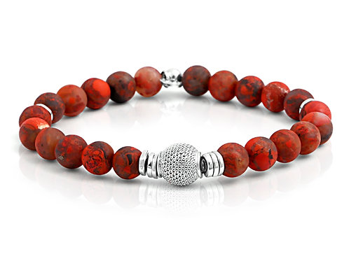 mens earthy beaded bracelet