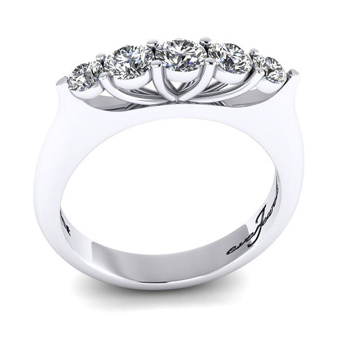 Cathedral Set Diamond Engagement Ring