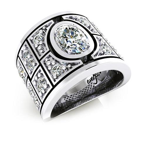 bezel set diamond dress ring