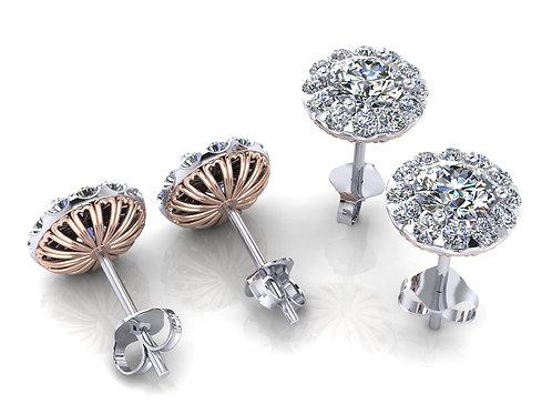 diamond studs round