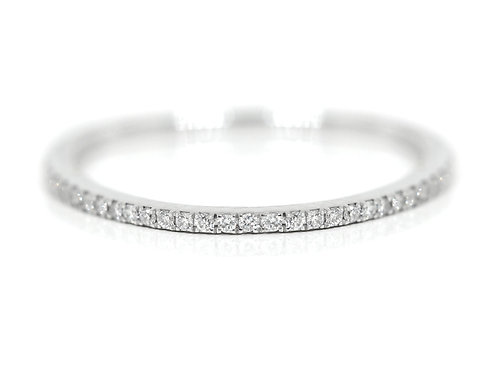 18ct White gold pave set diamond wedding band