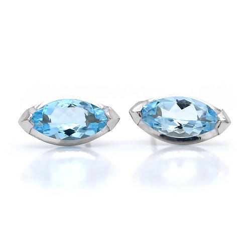 marquise aquamarine earrings