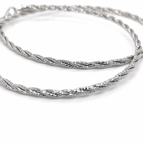SILVER OMEGA ROPE CHAIN