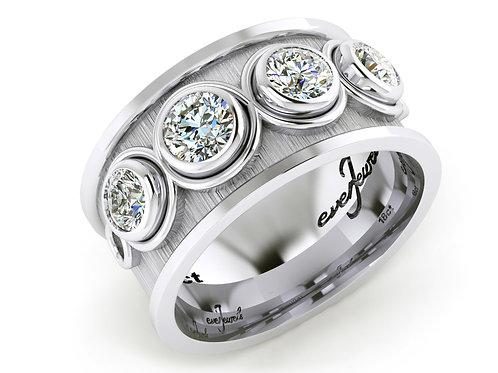 white gold bezel set dress ring