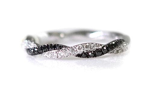 white and black diamond wedding band