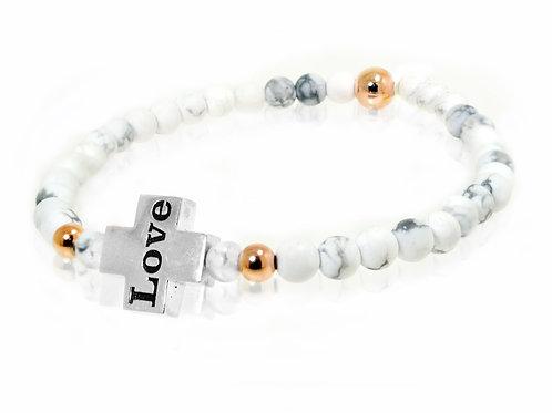 beaded charm bracelet love