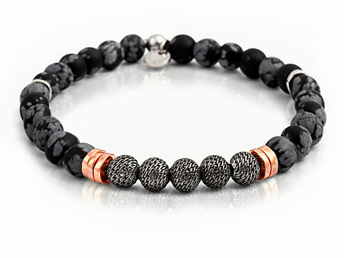 tatteossian mens black beaded bracelet