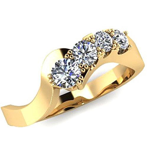 Four Round Brilliant Diamond Engagement Ring